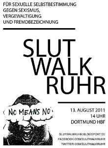 [Flyer: Slutwalk Ruhr 2011]