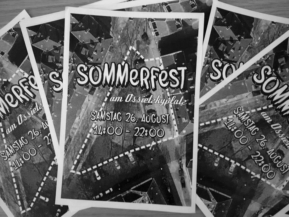 Sommerfest am Ossietzkyplatz, Samstag 26. August, 14:00–22:00